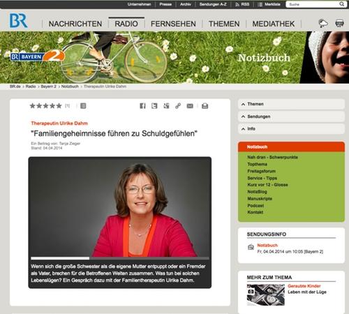 Bayerischer Rundfunk Interview zu Schuldgefühlen in der Familie